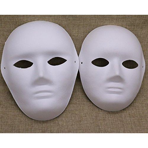 Full Face Halloween Mask White 6 Pack (Scary Halloween Masks Diy)