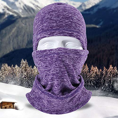 - LUCKSTAR Motorcycle Mask - Ski Face Mask Motorcycle Cycling Bike Bandana Hiking Skateboard Balaclava Face Mask Motorcycle Bicycle Bike Full Face Mask Hood Hat Helmet Liner for Riding Skiing (Purple)
