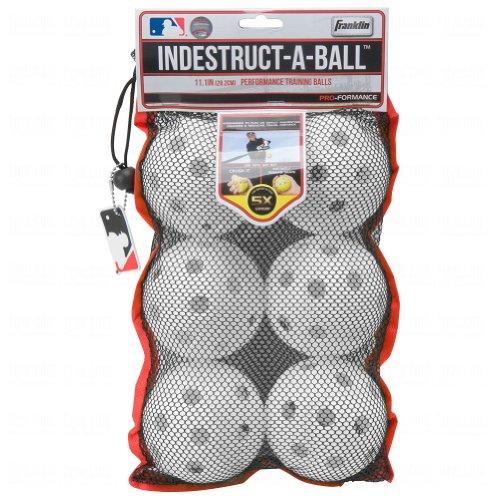 Franklin Mlb Indestruct-A-Balls Oversize Training Balls 6 Ba