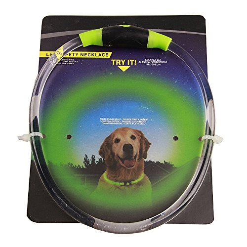 Hpapadks Pet Puppy Glowing Collar, Pet Glow Light Pattern Collar Buckle Adjustable for Night Safety Collar Dog Collars Online