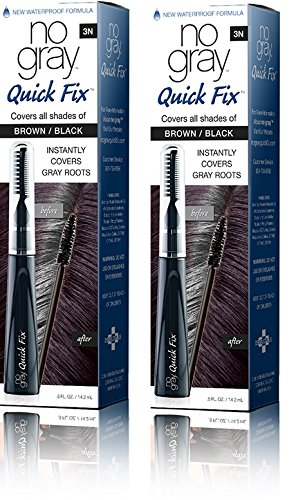No Gray Quick Fix Instant Touch-Up for Gray Roots (Set of 2, Brown/Black)