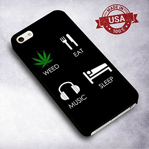 Classy Weed Eat Music Sleep for Cover Iphone 6 or 6s Case I0R1CH
