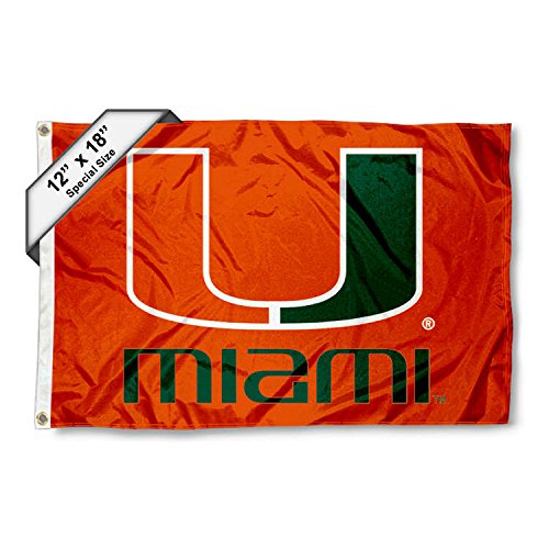 Miami Hurricanes Golf Cart and Boat Flag