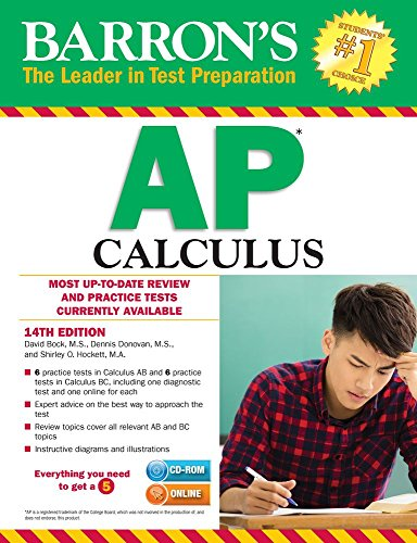 Barron's AP Calculus with CD-ROM, 14th Edition