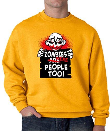 [Lifestyle39 9x11 Zombies Were People Too Sweatshirt, Funny Halloween Sweatshirt, Halloween Costumes Gold XXX-Large] (80's Couples Halloween Costume Ideas)