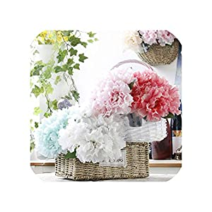 5 Heads Elegant Artificial Peony Silk Flowers Bridal Bouquet Home Wedding Party Decor Christma Decoration Flores 74
