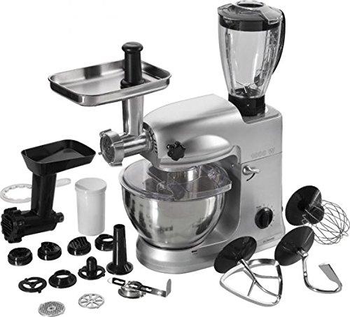 Bomann KM 367 CB Robot de Cocina multifunción, amasadora, picadora Carne, licuadora, Realizar Pasta, 1000 W, 6 Velocidades, Gris: Amazon.es: Hogar
