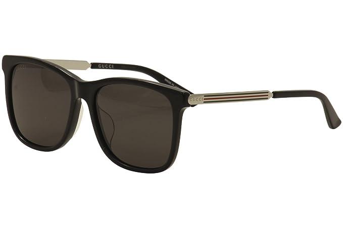 Gucci GG0078SK 002 Gafas de sol, Negro (Black/Grey), 56 para ...