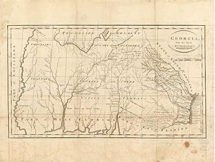 Map Of Georgia Southern.Amazon Com Map Of Georgia From The Latest Authorities Georgia