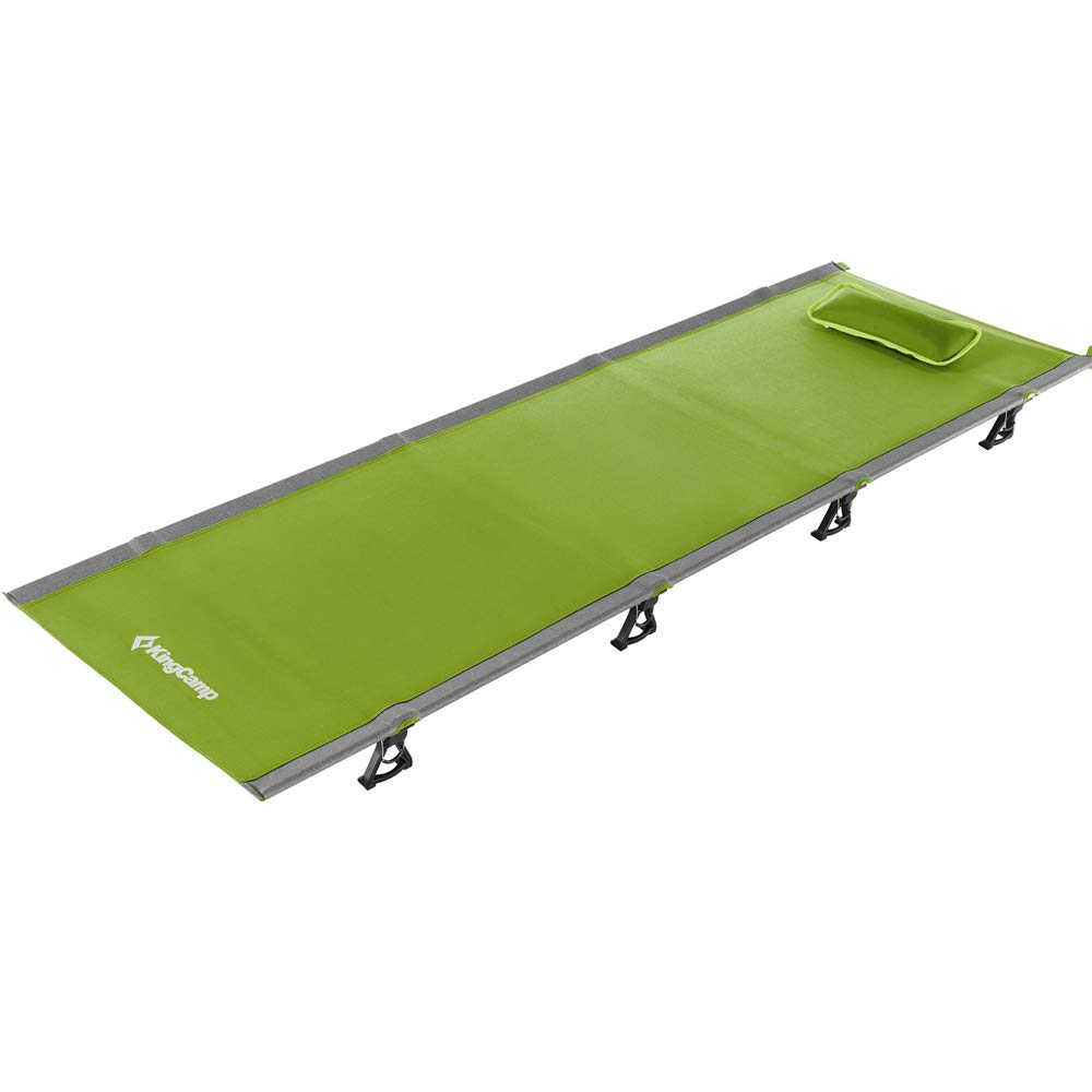 KingCamp Ultralight Compact Folding Camping Cot Bed, 4.9 Pounds (Green) by KingCamp