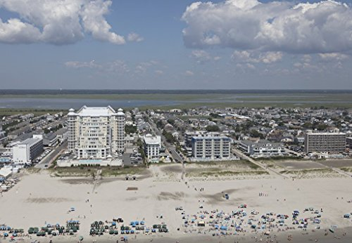 historic pictoric Photograph| Beaches on The New Jersey Shore in Wildwood, New Jersey 2 Fine Art Photo Reproduction 12in x 08in -