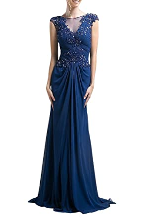 La Mariee Elegant Sheath Formal Prom Dresses With Appliques Lace For Women-2-Royal