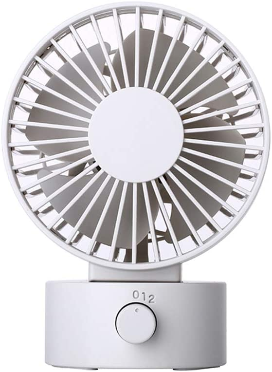 Desk Noiseless USB Fan with Updated Strong Airflow, 2 Speeds, Adjustable Tilt Angle for Better Cooling, Small Fan for Home, Office, Travel