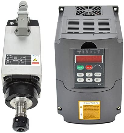 3KW 220V Er20 Collet Air Cooled CNC Spindle Motor and 3kw 220v Vfd Variable Frequency Drive