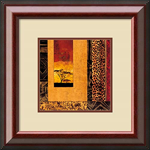 - Framed Art Print 'African Studies I' by Chris Donovan: Outer Size 21 x 21