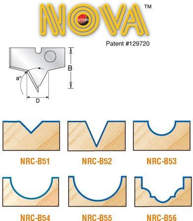 Amana Tool NRC-B51 Pair of Solid Carbide Nova Plunge V Groov