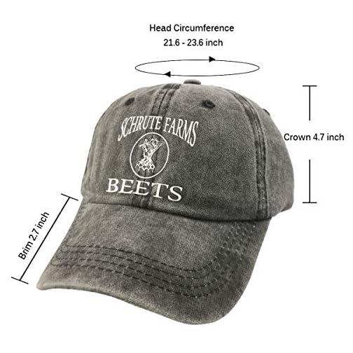 NVJUI JUFOPL Men's & Women's Schrute Farms Beets Funny Baseball Cap Washed Vintage Dad Hat  