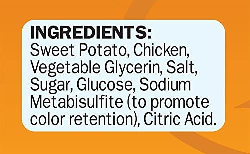 (3 Pack) Cadet Chicken & Sweet Potato Dog Treat Wraps; 28 oz Each