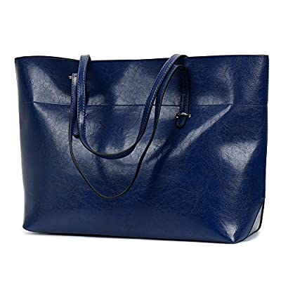 Leather Tote Bag for Women, Large Commute Handbag Shoulder Bag Zipper Women's Work Satchel Bag