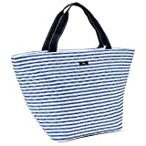 SCOUT Weekender Travel Tote Carry On Bag, Internal Zippered Pouch, Water Resistant, Zips Closed, Stripe Right