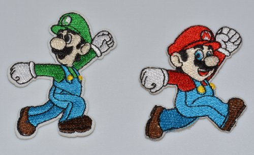 - MARIO and LUIGI Characters BROTHERS 4 LYF! Combo Pack Embroidered PATCHES