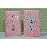 SET OF CHUNKY BUBBLE GUM Glitter Switch Plate Outlet Covers ALL Styles Available!