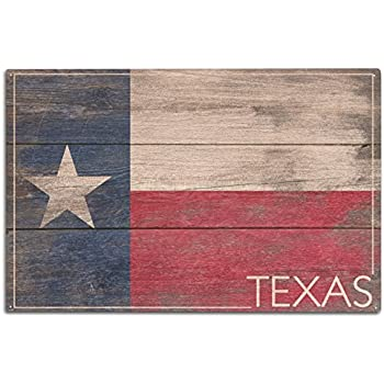 Beau Rustic Texas State Flag (10x15 Wood Wall Sign, Wall Decor Ready To Hang)