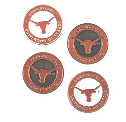 (Texas Longhorns Double SidedGolf Ball Markers (Set of 4))