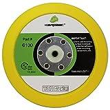 Karebac 6100 Back-up Sanding Pad, PSA 6'' Diameter x 3/4'' Thick, 5/16''-24 External Thread (1 Pack), Yellow