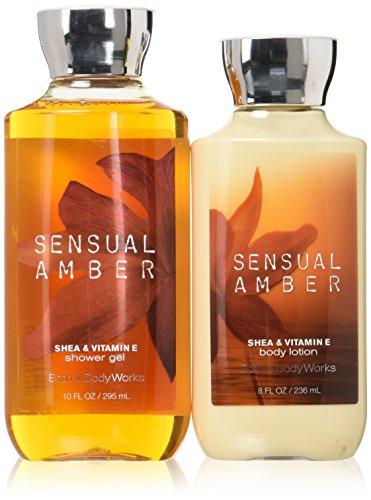 Cheap Bath & Body Works Sensual Amber Body Lotion & Shower Gel Bundle Pack