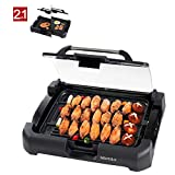 Cheap Secura GR-1503XL 1700W Electric Reversible 2 in 1 Grill Griddle w/ Glass Lid Indoor Outdoor
