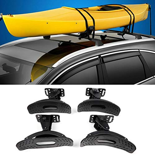 OCPTY kayak carrier Kayak Roof Rack Canoe Carrier Top Saddles Mounts for SUV Truck Van Car Rooftop Set of 2 Saddles Kayak Carrier for Canoe, SUP and Kayaks