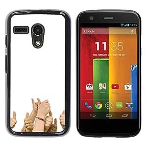 Motorola G1 / X1032 , Radio-Star - Cáscara Funda Case Caso De Plástico (Funny - Thumbs Up)