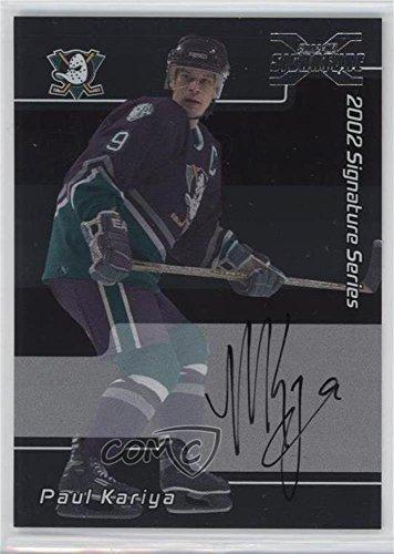 Signature Series Autographs Hockey Card (Paul Kariya (Hockey Card) 2002-03 In the Game Be A Player Signature Series - 2001-02 Signature Series Autographs Buybacks #LPK)