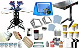 4 Color Screen Printing Press Kit Machine Equipment Silk  Screen Printing Kit