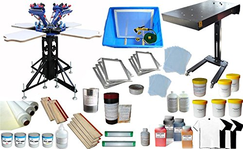 4 Color Screen Printing Press Kit Machine Equipment Silk  Screen Printing Kit by Screen Printing Kit