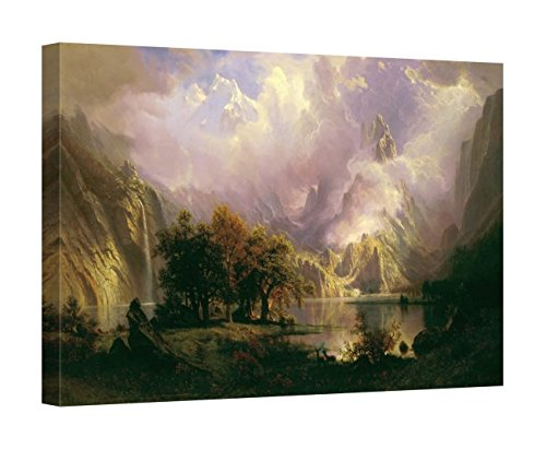 Easy Art Prints Albert Bierstadt's 'Rocky Mountain Landscape' Premium Canvas Art - 24