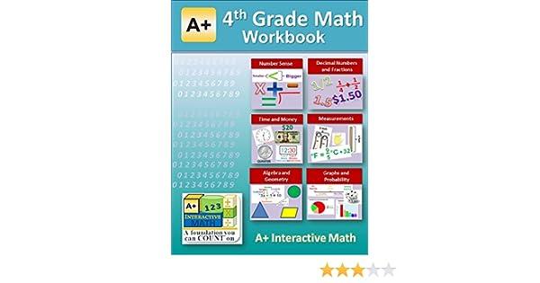 4th Grade Math Workbook (Printed B&W Plasti-coil bound) (143 ...