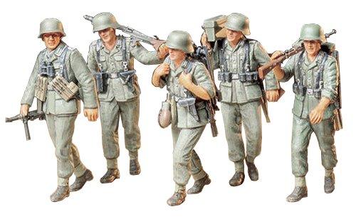 German Machine Gun Crew On Maneuve Model Kit