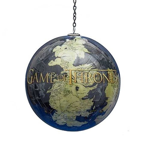 Game of Thrones Map of Westeros Decoupage Ball Christmas Ornament (Decoupage Ball)