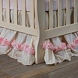 Glenna Jean Victoria Dust Ruffle Mini Crib Skirt, Pink