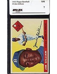 1955 Topps Baseball #005 Jim Gilliam (Dodgers) STARX 7 NM (X150720409)