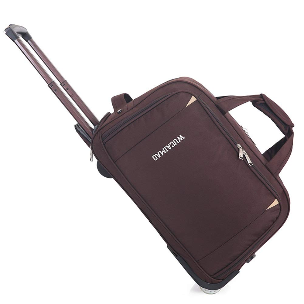 Travel Bags Leisure Travel Men and Women Pull Bag Trolley Case Luggage Suitcases Carry On Hand Luggage Durable Hold Tingting Color : Brown, Size : 512731
