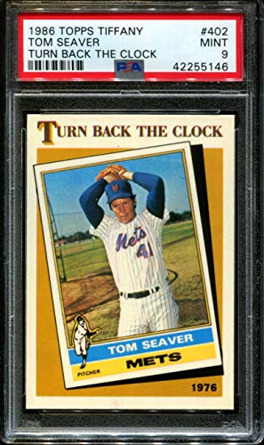 1986 TOPPS TURN BACK THE CLOCK #402 TOM SEAVER HOF PSA 9 B1855837-768