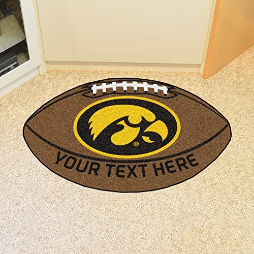 Custom Home Rugs Personalized University of Iowa Football Mat ()