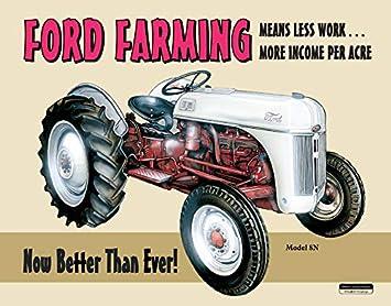 Desperate Enterprises Ford Farming 8N Tin Sign, 16