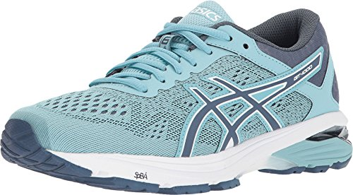 ASICS GT-1000 6 Women's Running Shoe, Porcelain Blue/Smoke Blue/White, 11.5 M US