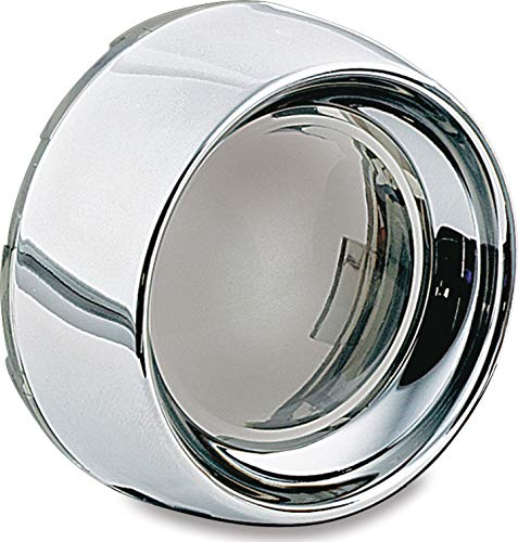 Kuryakyn 2107 Motorcycle Lighting Accessory: Deep Dish Bezel for 2000-19 Harley-Davidson Motorcycles with Bullet Turn Signal/Blinker Lights, Smoke Lens, Chrome, 1 Pair ()