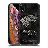 Official HBO Game of Thrones Stark Dark Distressed Sigils Soft Gel Case for iPhone XR