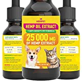 Hemp Oil Extract - 25 000 MG - Highly Effective - FDA-Recommended - Advanced Formula with Vitamins -...